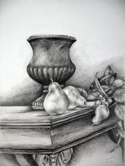 Vase and Pears