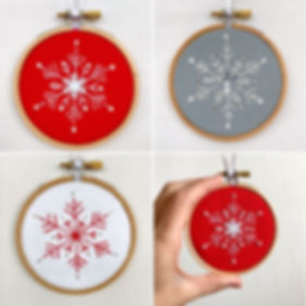 Embroidered christmas workshop