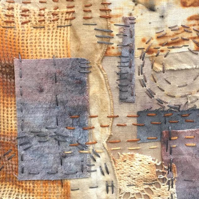 Mindful stitching embroidery