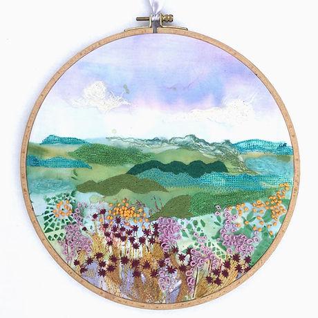 Machine embroidered hoop