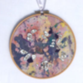 Embroidered Hoop with beading