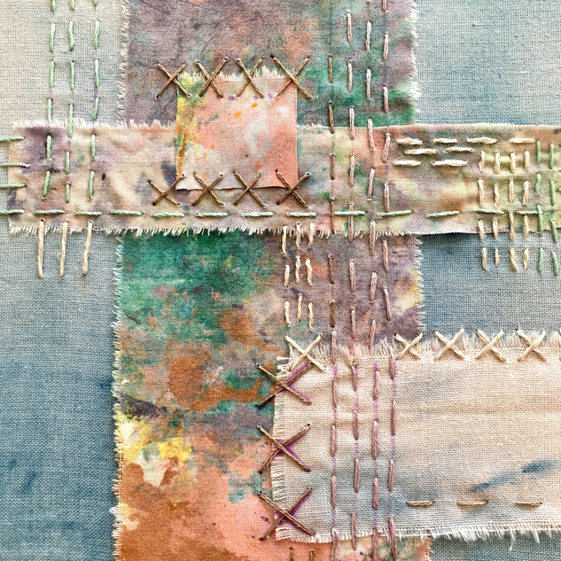 Mindfully stitched textile art