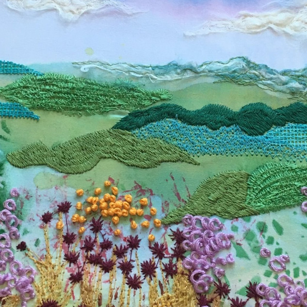 Machine embroidered art