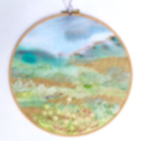 Landscape embroidered hoop