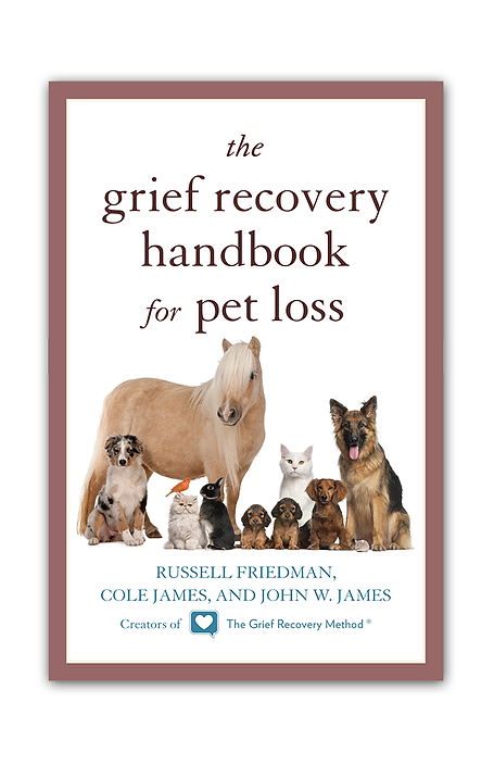 grief recovery pet loss death emotional support help