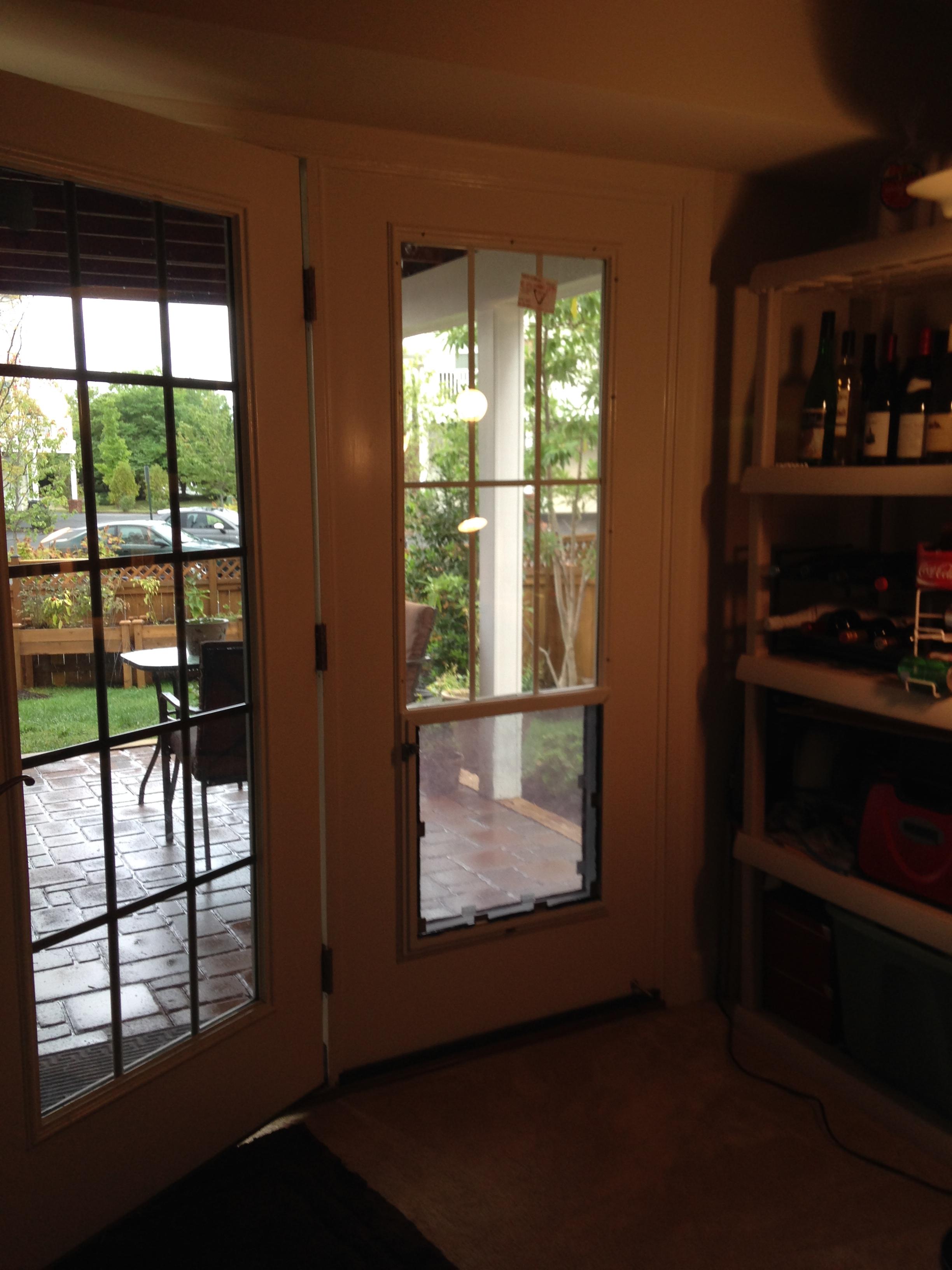 Interior, client designed pet door