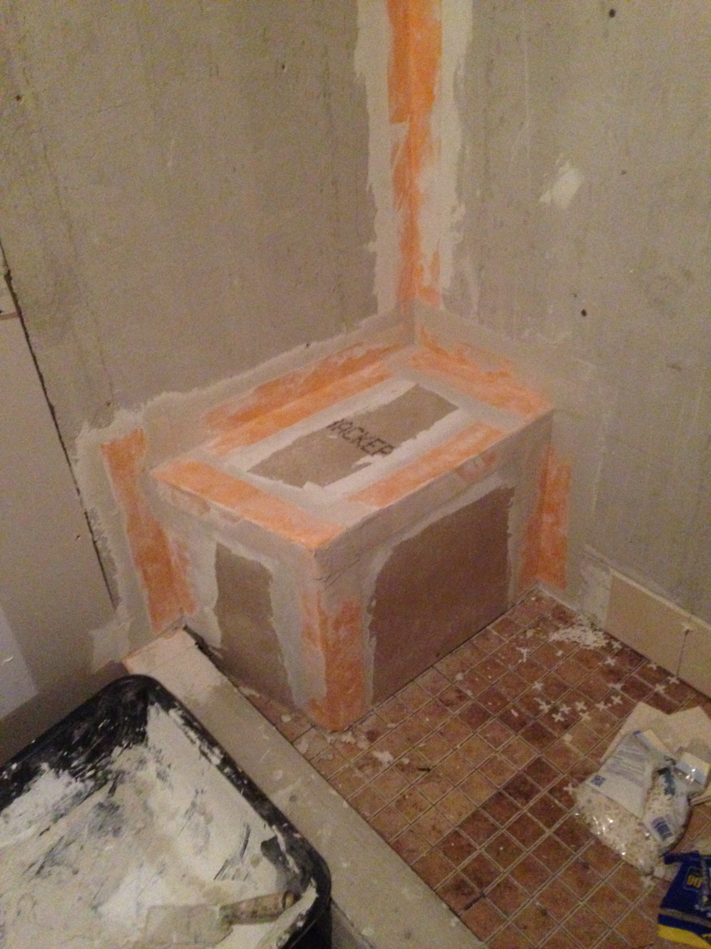 Adding shower seating