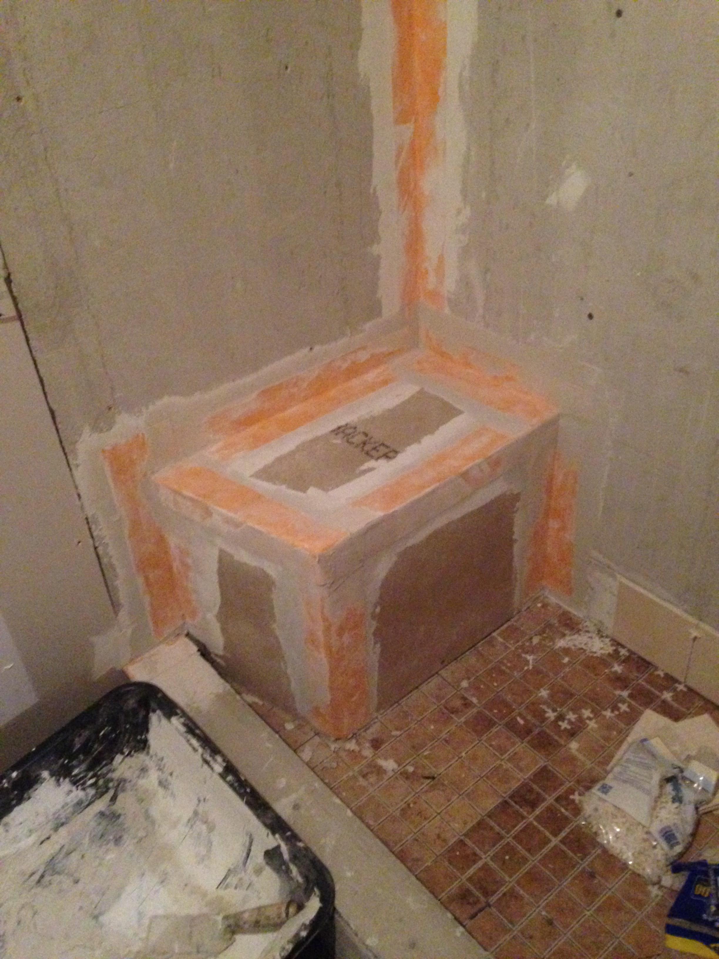 Adding shower seating