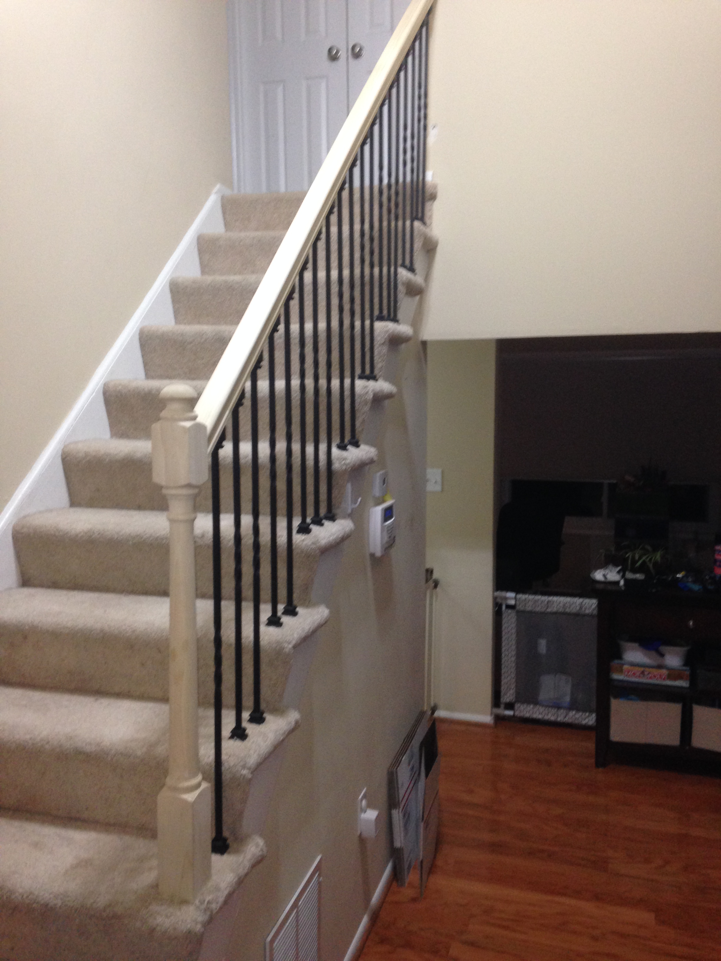 Stair railing after renovation