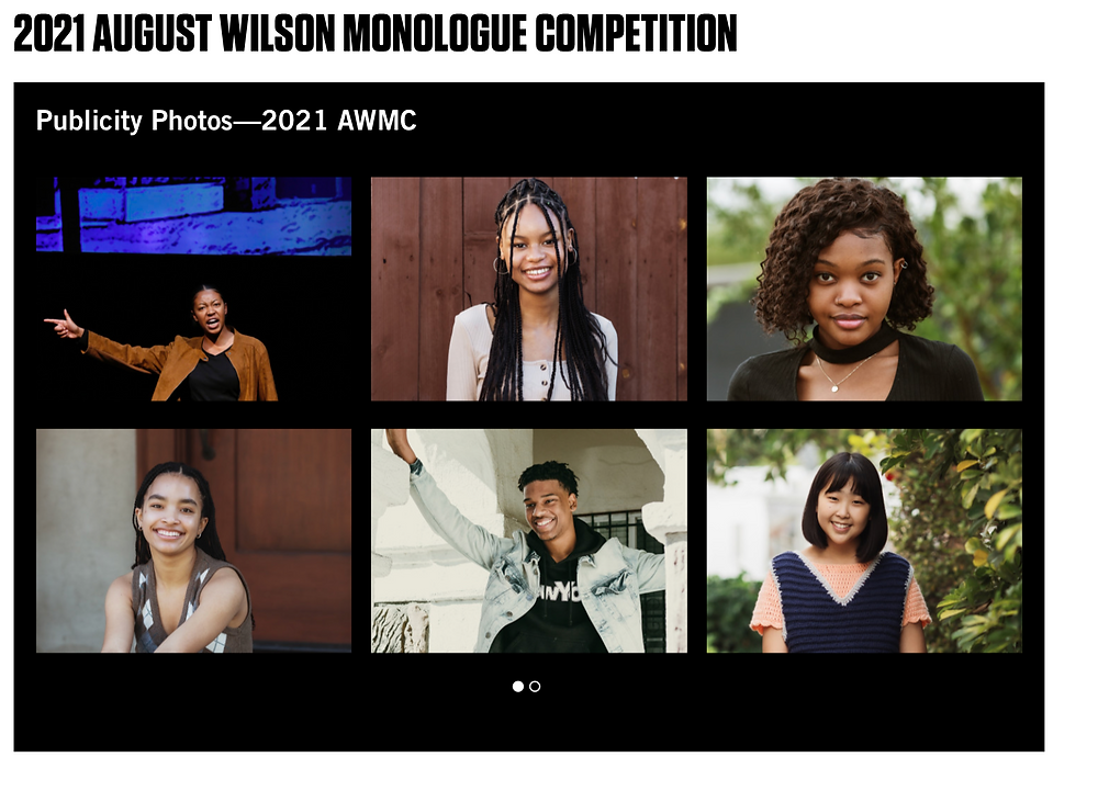 Willa Jackson will be competing in the regional finals for the prestigious August Wilson Monologue Competition.  Also look for student Hannah Franklin in the Netflix Documentary about this competition.