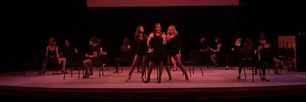 Daniella Zappacosta, Madeleine Huggins & Kaitlin Moore in performance at the Colburn School Musical Theatre Intensive.