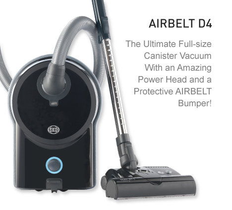 SEBO AIRBELT D4 Premium Canister Vacuum Cleaner with Power Head