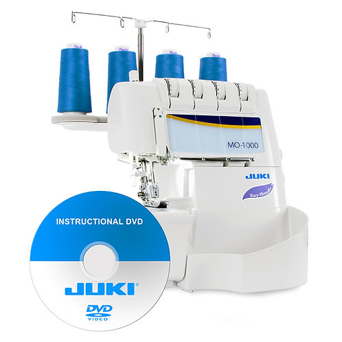 Juki MO-1000 2/3/4 Air Threading Overlock with Differential Feed and Rolled Hem
