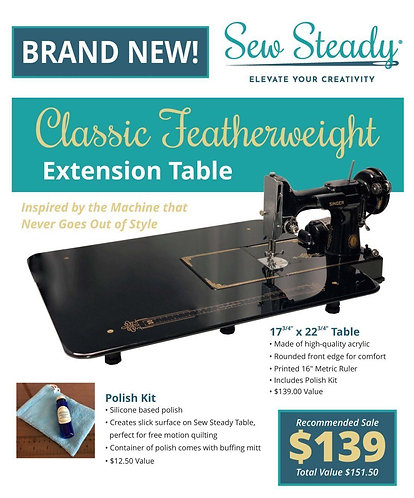 Sew Steady SINGER 221 CLASSIC FEATHERWEIGHT EXTENSION TABLE