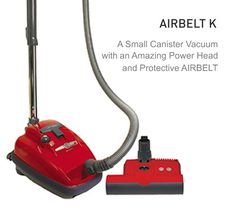 SEBO AIRBELT K3 Lightweight Mid-Size Canister Vacuum Cleaner with Power Head