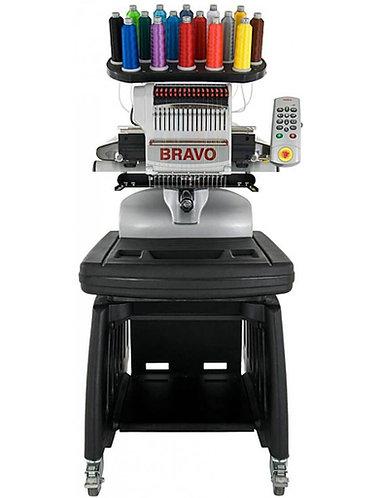 Melco Amaya Bravo 16 Needle Embroidery Machine with Full DesignShop Software V10