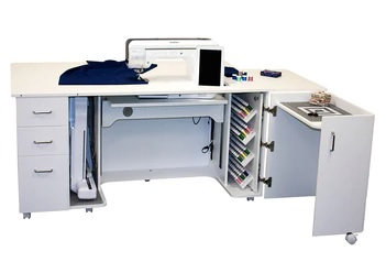 Horn Model 8479 Electric Lift Tall Combo Sewing, Embroidery & Quilting Cabinet
