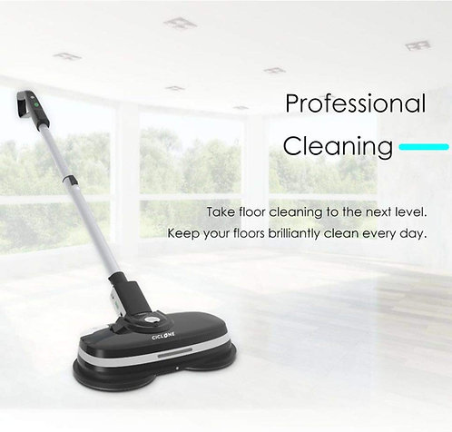 Ciclone Floorcare Cordless Dual Spinning Mop Cleaner,Scrubber & Polisher