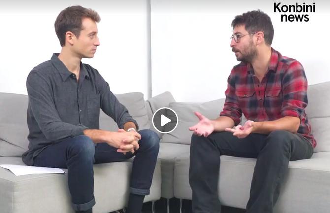 Robin D'Angelo interviewé par Hugo Clément sur Konbini News