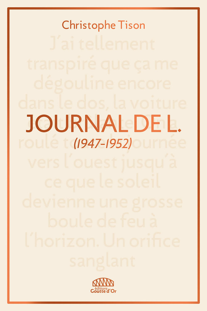 """Journal de L."" de Christophe Tison"