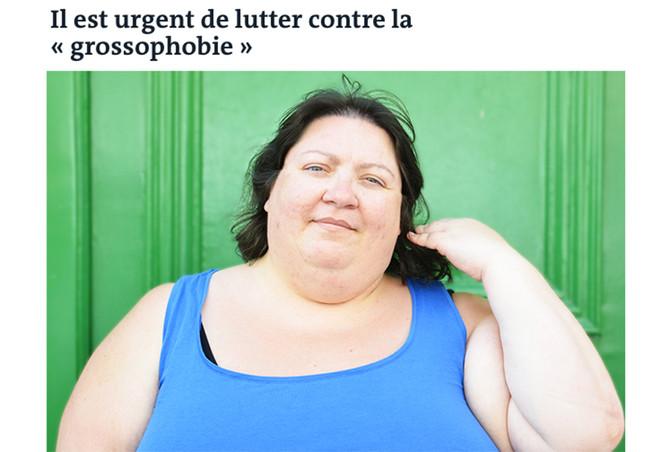 """La chronique d'""""On ne naît pas grosse"""" dans Le Monde"""