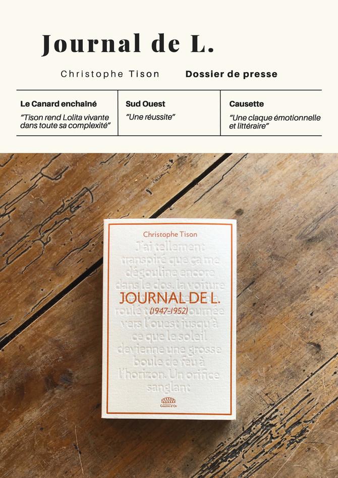 """""""Journal de L."""" de Christophe Tison dans la presse"""