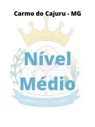 Carmo do Cajuru - MG / Nível Médio