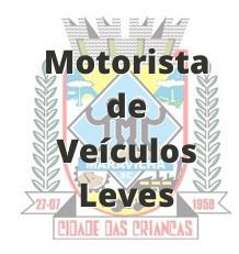 Maravilha - SC / Motorista de Veículos Leves