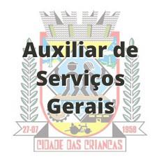 Maravilha - SC / Auxiliar de Serviços Gerais