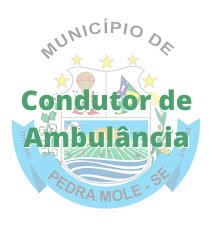 Pedra Mole - SE / Condutor de Ambulância