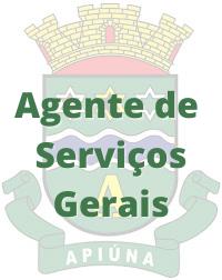 Apiúna - SC / Agente de Serviços Gerais