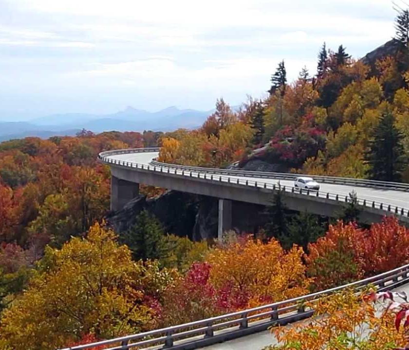 Skyline Drive in Shenandoah National Park Appalachian Mountains