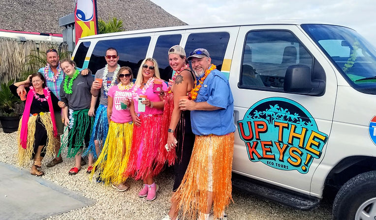 Fun Tiki Bar Party Tour Group in the Florida Keys