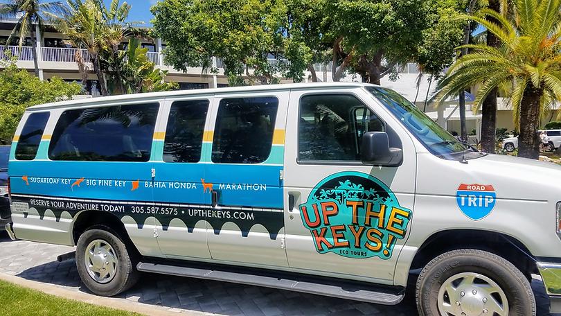 Custom Tour Van for Florida Keys Road Trip Excursion Tours
