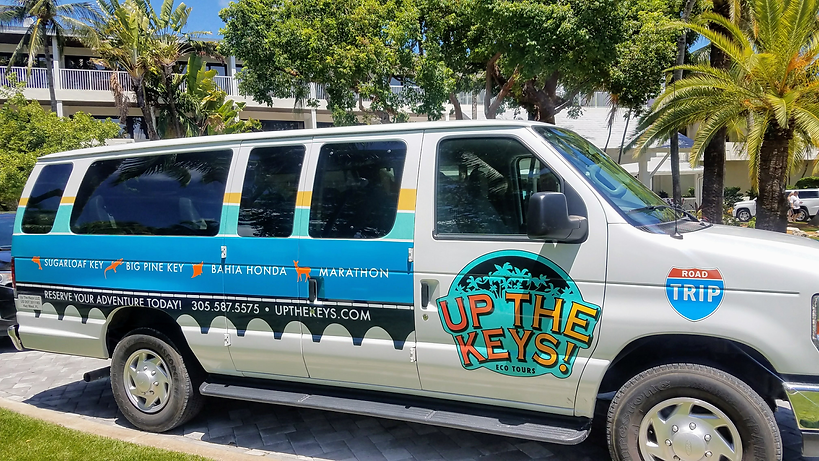 Custom Tour Van for Florida Keys Road Trip Excursion Tours