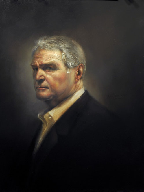 Chuck Noll 20x16 oil on linen