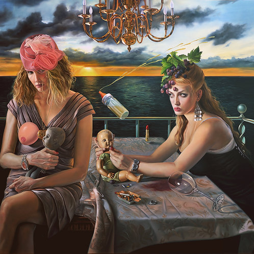 Blondes Have More Fun 38 x 34 oil on linen 2011