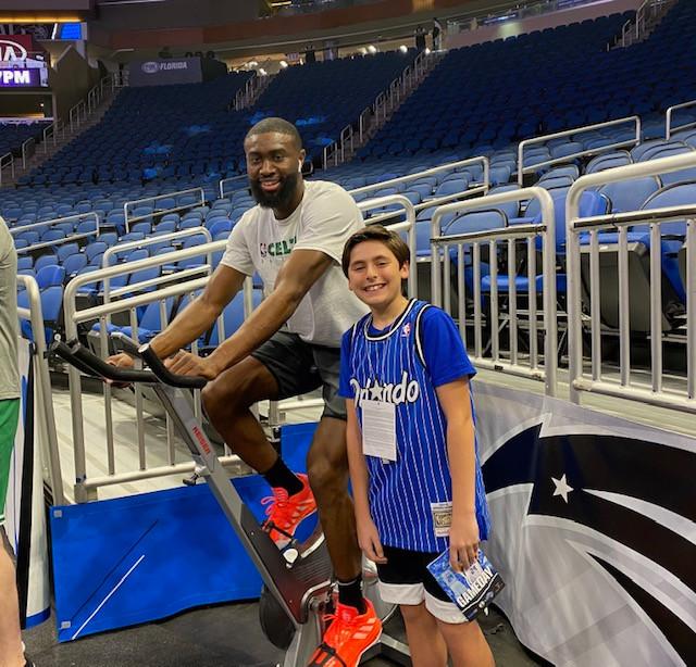 Zack with Jaylen Brown of the Celtics