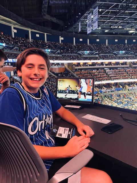 Zack in the Orlando Magic Media Booth