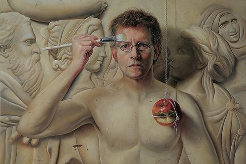 The Secret, 16 x 20, oil on panel (self portrait) Pioneer of Realism Award