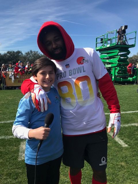 Zack with Jarvis Landry PB