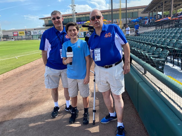 Zack with Sports 60 at Detroit Game