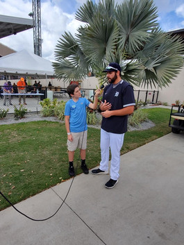 Zack with Michael Fulmer Tigers