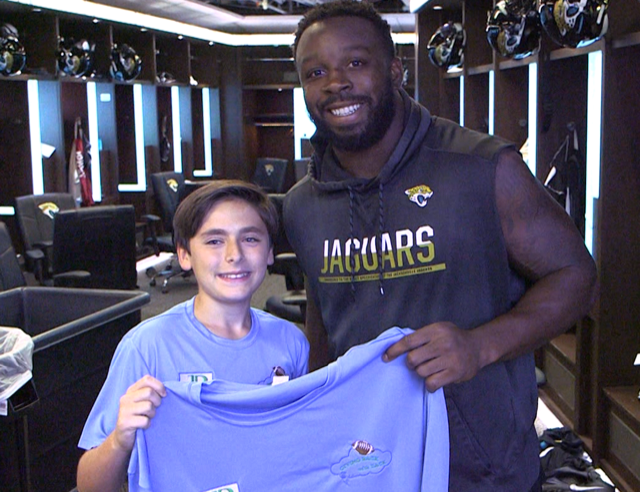 Zack with the Jaguars