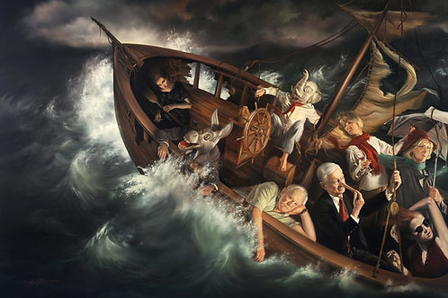 Ship of Fools, 24 x 34, oil on linen