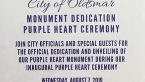 Oldsmar's Purple Heart Dedication/Ceremony