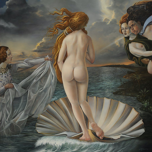Venus Against the Wind, 20 x 18, oil on linen