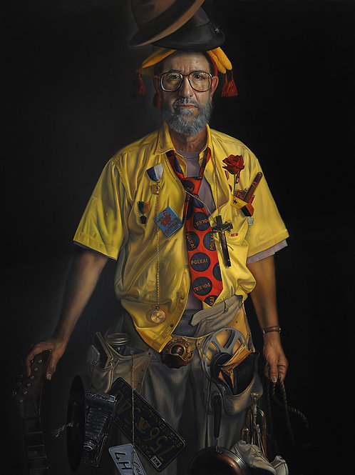 David Bowers,The Collector 38 x 30 oil on linen 2009 Portrait Society of America