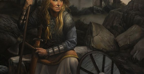 """""""Lisa the Shield Maiden""""  shown at the MEAM museum"""