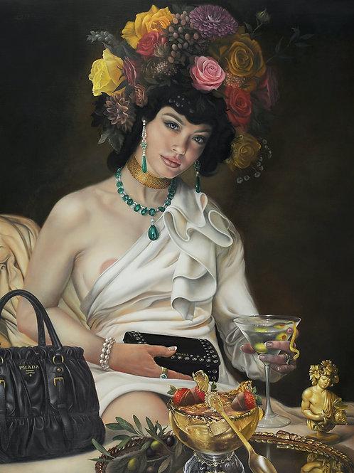 Goddess of Decadence, 20 x 24, oil on linen